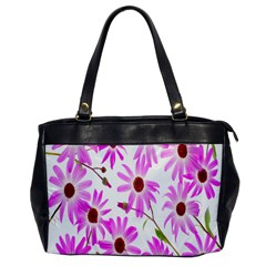 Pink Purple Daisies Design Flowers Office Handbags