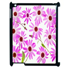 Pink Purple Daisies Design Flowers Apple Ipad 2 Case (black)
