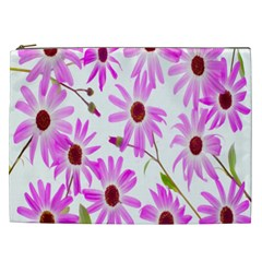 Pink Purple Daisies Design Flowers Cosmetic Bag (xxl)