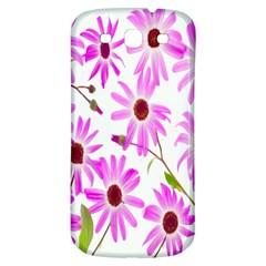 Pink Purple Daisies Design Flowers Samsung Galaxy S3 S Iii Classic Hardshell Back Case by Nexatart
