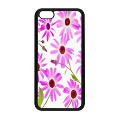 Pink Purple Daisies Design Flowers Apple Iphone 5c Seamless Case (black)