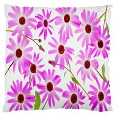 Pink Purple Daisies Design Flowers Standard Flano Cushion Case (one Side) by Nexatart