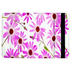 Pink Purple Daisies Design Flowers Ipad Air 2 Flip by Nexatart