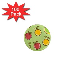 Seamless Pattern Healthy Fruit 1  Mini Magnets (100 Pack)