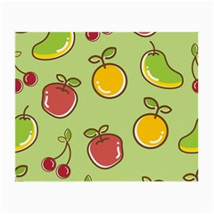 Seamless Pattern Healthy Fruit Small Glasses Cloth