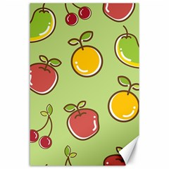 Seamless Pattern Healthy Fruit Canvas 24  X 36