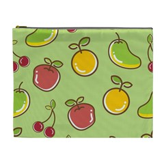 Seamless Pattern Healthy Fruit Cosmetic Bag (xl)