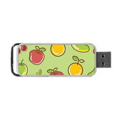 Seamless Pattern Healthy Fruit Portable Usb Flash (one Side)