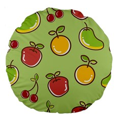Seamless Pattern Healthy Fruit Large 18  Premium Flano Round Cushions by Nexatart