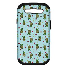 Pineapple Watermelon Fruit Lime Samsung Galaxy S Iii Hardshell Case (pc+silicone)