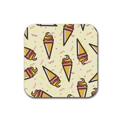 Pattern Sweet Seamless Background Rubber Square Coaster (4 Pack)