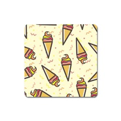 Pattern Sweet Seamless Background Square Magnet