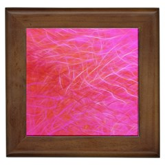 Pink Background Abstract Texture Framed Tiles