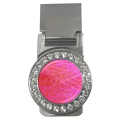 Pink Background Abstract Texture Money Clips (cz)