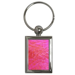 Pink Background Abstract Texture Key Chains (rectangle)