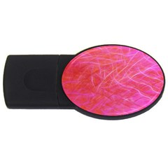 Pink Background Abstract Texture Usb Flash Drive Oval (2 Gb)