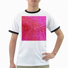 Pink Background Abstract Texture Ringer T Shirts