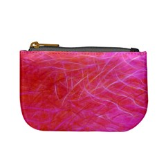 Pink Background Abstract Texture Mini Coin Purses