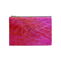 Pink Background Abstract Texture Cosmetic Bag (medium)
