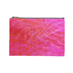 Pink Background Abstract Texture Cosmetic Bag (large)