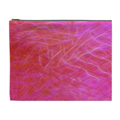 Pink Background Abstract Texture Cosmetic Bag (xl)