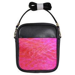 Pink Background Abstract Texture Girls Sling Bags