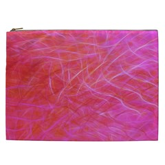 Pink Background Abstract Texture Cosmetic Bag (xxl)