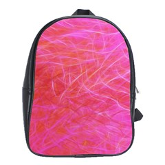 Pink Background Abstract Texture School Bag (xl)