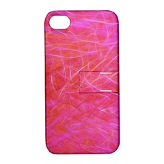 Pink Background Abstract Texture Apple Iphone 4/4s Hardshell Case With Stand