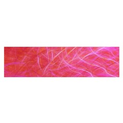 Pink Background Abstract Texture Satin Scarf (oblong)