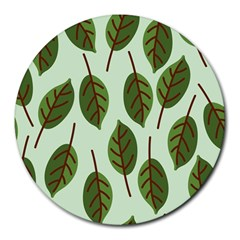 Design Pattern Background Green Round Mousepads