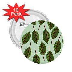 Design Pattern Background Green 2 25  Buttons (10 Pack)