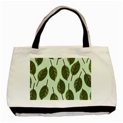 Design Pattern Background Green Basic Tote Bag
