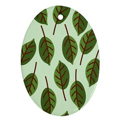 Design Pattern Background Green Oval Ornament (two Sides)