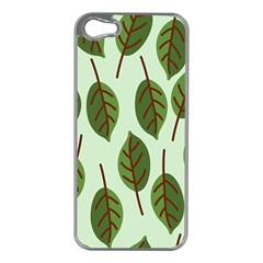 Design Pattern Background Green Apple Iphone 5 Case (silver)