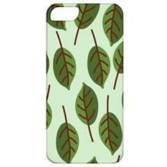 Design Pattern Background Green Apple Iphone 5 Classic Hardshell Case by Nexatart