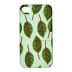 Design Pattern Background Green Apple Iphone 4/4s Hardshell Case With Stand