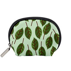 Design Pattern Background Green Accessory Pouches (small)