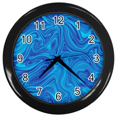 Abstract Pattern Art Desktop Shape Wall Clocks (black)