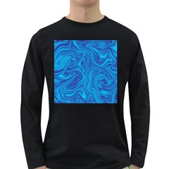 Abstract Pattern Art Desktop Shape Long Sleeve Dark T Shirts