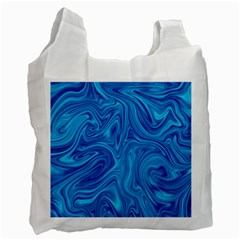 Abstract Pattern Art Desktop Shape Recycle Bag (two Side)