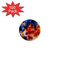 Ornament Color Vivid Pattern Art 1  Mini Magnets (100 Pack)