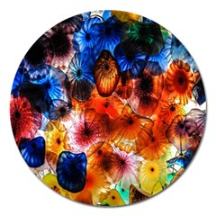 Ornament Color Vivid Pattern Art Magnet 5  (round)