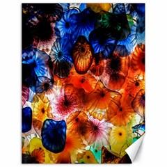 Ornament Color Vivid Pattern Art Canvas 18  X 24