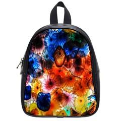 Ornament Color Vivid Pattern Art School Bag (small)