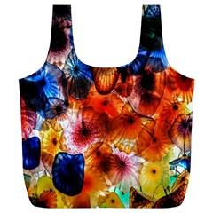 Ornament Color Vivid Pattern Art Full Print Recycle Bags (l)