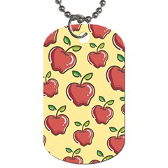 Seamless Pattern Healthy Fruit Dog Tag (two Sides)