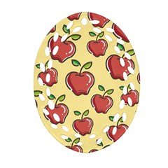 Seamless Pattern Healthy Fruit Oval Filigree Ornament (two Sides)