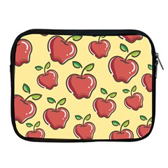 Seamless Pattern Healthy Fruit Apple Ipad 2/3/4 Zipper Cases