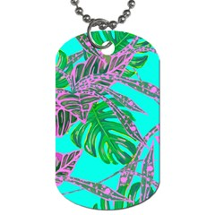 Painting Oil Leaves Nature Reason Dog Tag (one Side)